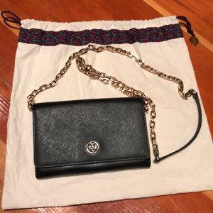 Tory Burch EMERSON Black Chain Crossbody Bag